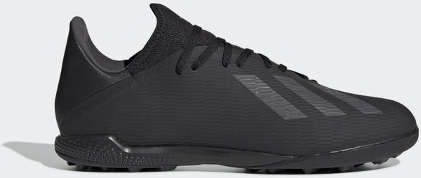 Adidas X 19.3 TF Fußballschuh Core Black / Utility Black / Silver Met. Männer (F35373)