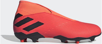 Adidas Nemeziz 19.3 Laceless Firm Ground Boots Signal Coral / Core Black / Solar Red