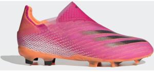 Adidas X Ghosted+ Laceless FG Fußballschuh Shock Pink/Core Black/Screaming Orange Kinder
