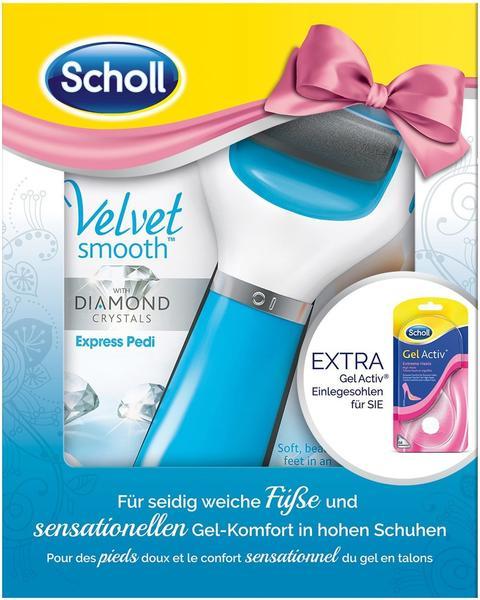 Scholl Velvet Smooth Express Pedi Diamond Blue Gel Activ
