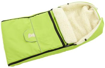 Lux4Kids Babalou Fußsack 103cm XL Winterfußsack mit Bärchen echte Schurwolle Thermofußsack für Buggy Kinderwagen oder Schlitten 26 Grün