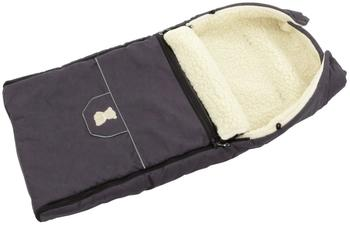 Lux4Kids Fußsack 103cm XL Winterfußsack mit Bärchen echte Schurwolle Thermofußsack für Buggy Kinderwagen oder Schlitten 10 Violett Grau