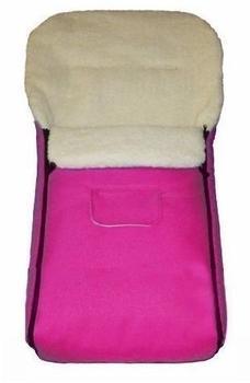 Baby-Joy Lammfellfußsack Kai pink 120 cm