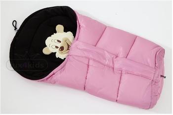 Lux4Kids Winterfußsack Bärenmotiv Rose & black