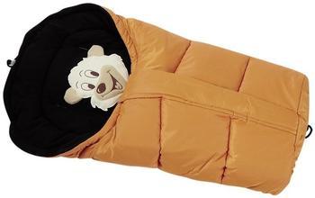 Lux4Kids Winterfußsack Bärenmotiv orange & black