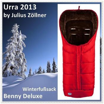 Urra Techno Fleece Fußsack Deluxe rot/schwarz