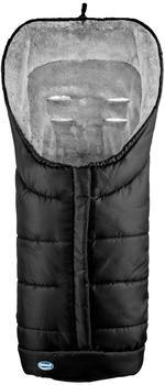Urra Techno Fleece Fußsack Deluxe schwarz/grau
