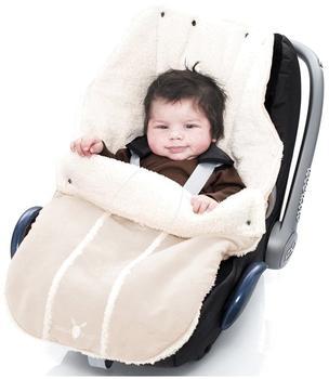 Wallaboo Fußsack für Babyschale ecru