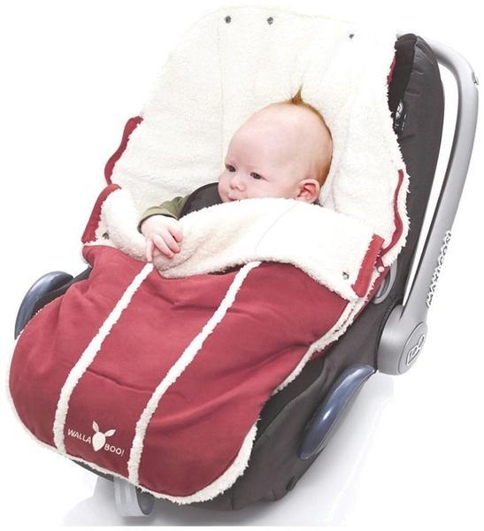 Wallaboo Fußsack für Babyschale Newborn warm red