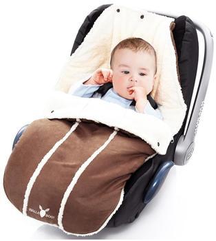 Wallaboo Fußsack für Babyschale Newborn chocolat