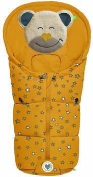 Odenwälder BabyNest Fußsäckchen Mucki fashion sparkling stars mustard