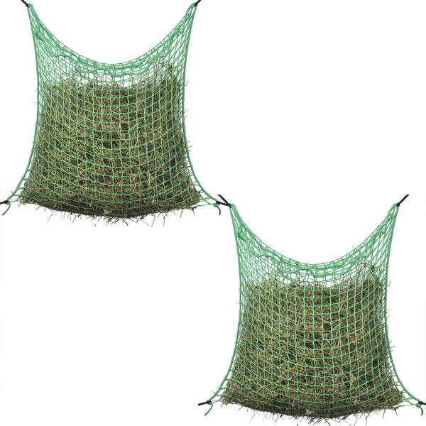 vidaXL Heunetze 2 Stk Quadratisch 0,9x1,5 m PP