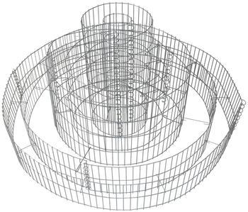 Dema Gabione 3-fach Ring 60 x Ø 120 cm
