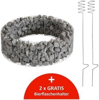 Bellissa Gabionen-Feuerstelle Ø 73 x H 21 cm