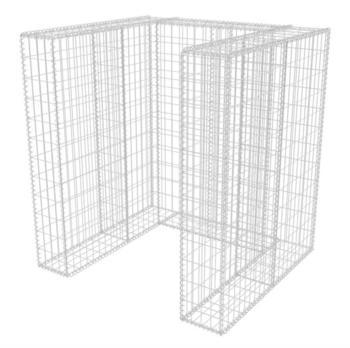 VidaXL Gabionen-Mülltonnenverkleidung für 1 Tonne 110 x 100 x 120 cm