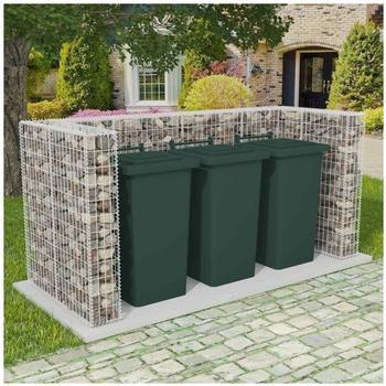 VidaXL Gabionen-Mülltonnenverkleidung für 3 Tonnen 250 x 100 x 120cm