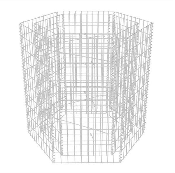 VidaXL Gabionen-Pflanztopf Sechseckig 100 x 90 x 100 cm