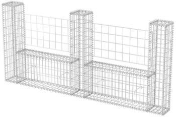 VidaXL Gabionenkorb U-Form 240 x 20 x 100 cm