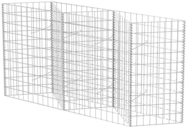 VidaXL Gabionenkorb/ Pflanzkasten 150 x 30 x 100 cm