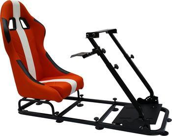 FK Gamesitz Rennsimulator orange-weiß