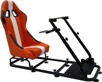 FK Gamesitz Rennsimulator orange-weiß (Textil)
