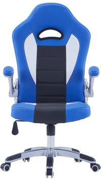 vidaXL Gaming Chair Leatherette/Metal Blue