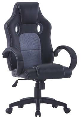 vidaXL Gaming Chair Leatherette Gray