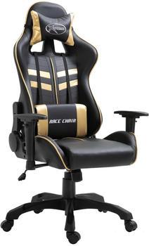 vidaXL Gaming Chair PU Gold (20194)