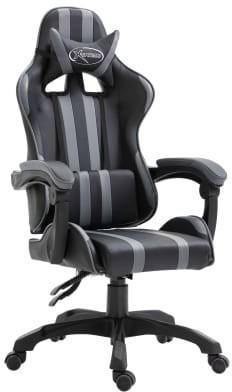 vidaXL Gaming Chair PU Gray (20212)