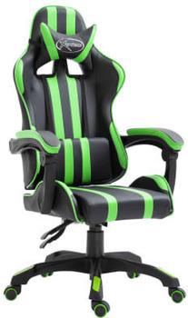 VidaXL Gaming Chair PU Green (20211)