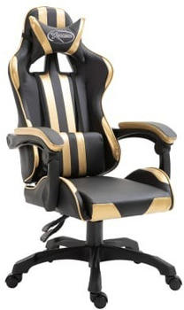 VidaXL Gaming Chair PU Gold (20210)