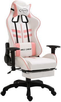 vidaXL Gaming chair with footrest Pink (20226)