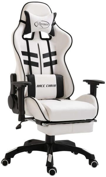 vidaXL Gaming chair with footrest Black (20227)