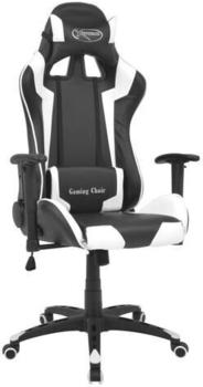 vidaXL Gaming Chair in Leatherette Reclining White