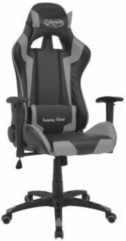 vidaXL Gaming Chair in Leatherette Reclining Grey