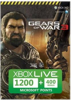 Microsoft Xbox Live 1200 Points Card - Gears of War 3 + 400 Points