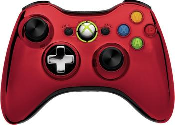 Microsoft Xbox 360 Wireless Controller (chrome rot)