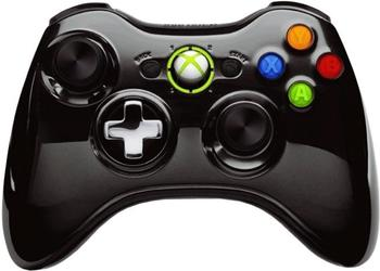 Microsoft Xbox 360 Wireless Controller (chrome schwarz)