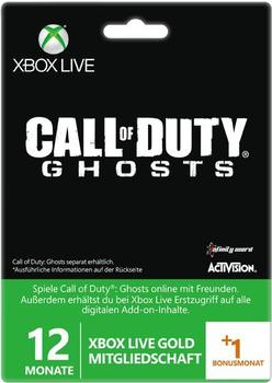 Microsoft Xbox Live Gold (12 +1 Monate) - Call of Duty: Ghosts