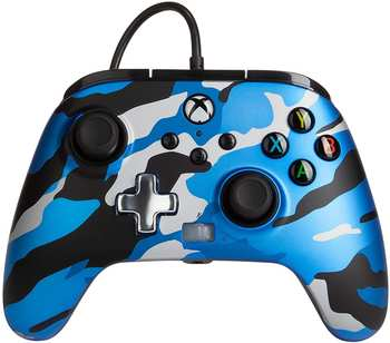 PowerA Enhanced Wired Controller for Xbox Series X|S – Metallic Blue Camo