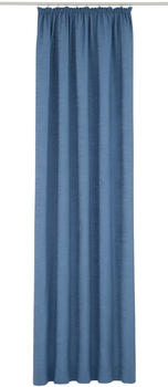 Wirth Vorhang Toco-Uni blau 145x132cm