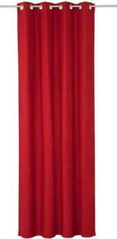 Wirth Vorhang Toco-Uni rot 145x132cm