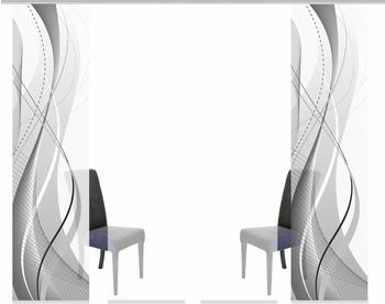 Home Fashion Schiebegardine Wuxi 60x245cm grau (4er Set)
