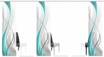 Home Fashion Schiebegardine Wuxi 60x245cm petrol (4er Set)