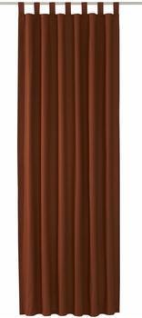 Tom Tailor Vorhang T-Dove mit Schlaufen 250x140cm dunkelbraun