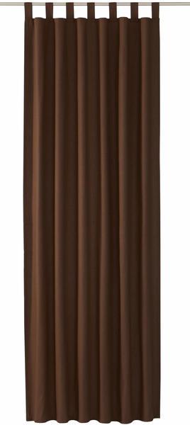 Tom Tailor Vorhang T-Dove mit Schlaufen 250x140cm schoko