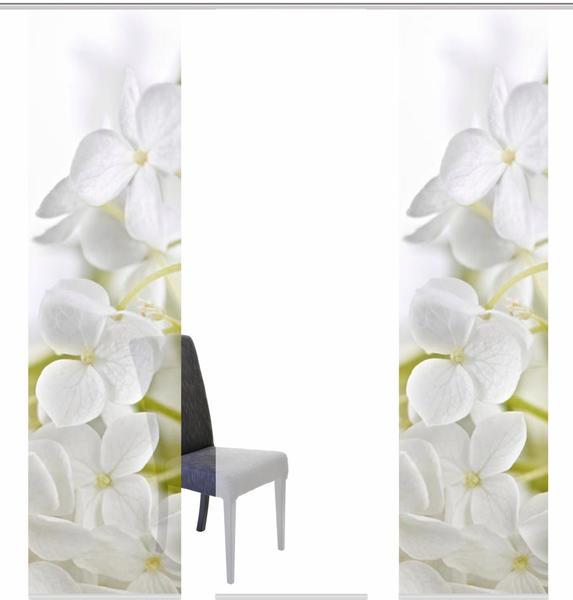 Home Fashion Schiebegardine Padua 60x245cm weiß (3er Set)