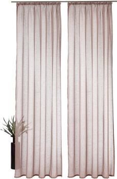 my home Gardine Regina mit Kräuselband 140x145cm taupe