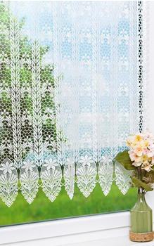 Plauener Spitze Blütenmedalion 90x240cm