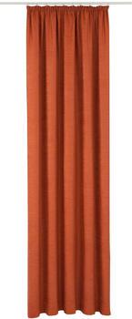 Wirth Toco-Uni mit Kräuselband 175x132cm rot